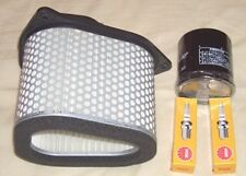 Service kit- Plugs , Air & Oil filter for SUZUKI VL VL1500 Intruder 1998 to 2004