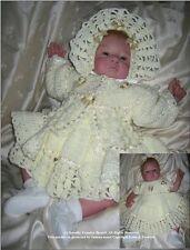 """Crochet Pattern:  Baby/Reborn """"Vanilla""""  0-3m MPN CRO131 by Frandor Formats"""