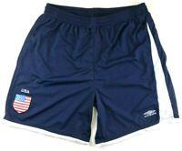 Umbro USA Blue White Soccer Running Shorts Mens Size Large