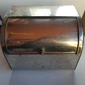 Vintage EMPECO Large Vented Bread Box - Metal / Tin - 13.75 x 10.5 x 10.5in