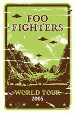FOO FIGHTERS CONCERT GIG POSTER 2005 - NEW - SUBWAY SIZED POSTER