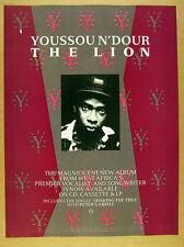 1989 Youssou N'Dour photo The Lion album promo vintage print Ad