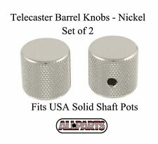 NEW TELECASTER STYLE BARREL KNOBS NICKEL (SET OF 2)