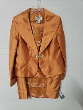 Tally Taylor womens Business Suit Orange size 14 3pc