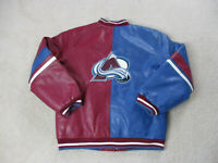 VINTAGE Colorado Avalache Jacket Youth Large Red Blue NHL Hockey Coat Kids 90s*