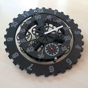Gear Clock Design WanduhrSkelettuhr Mechanische Optik Sehr guter Zustand 46cm