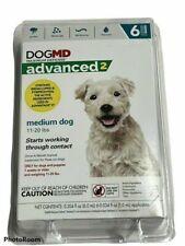 New listing Dogmd Advanced 2 Topical Flea Treatment - Medium Dog 11 - 20 lbs - 6 Tubes New