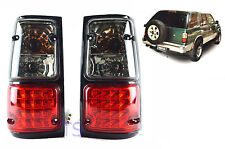 SMOKE + RED LED REAR TAIL LAMP LIGHTS FOR ISUZU HOLDEN CAMEO TFR UTE 1989-1996