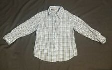 Pre-owned Topolino Boys Plaid Wht/Blue/Grn Long Sleeve School Semi-formal Fun