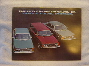 VOLVO Accessories 1975 sales brochure