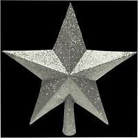 Christmas Tree Silver Glitter Top Star Xmas Decoration