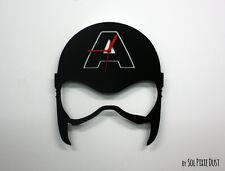 Avengers Captain America Mask Minimalist Film Silhouette - Wall Clock
