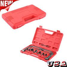 10 Pcs Valve Spring Compressor Tool Kit Set for Car Van Motorcycle Engine w/Case
