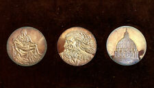 More details for the genius of michelangelo three silver medals - sculptor painter & architect