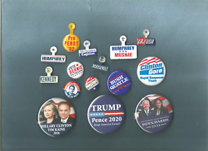 Large lot of Political Campaign buttons pins pinbacks- 1932- 2020
