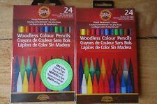 Koh-I-Noor Progresso 24 Woodless Colour Pencils - 2 sets