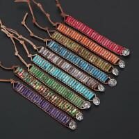 Pierre naturelle Polychrome Sac à corde Bracelet à pouls Bracelet Yoga bracelet