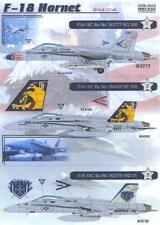 Print Scale Decals 1/144 MCDONNELL DOUGLAS F-18 HORNET Jet Fighter