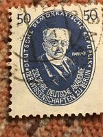 GDR DDR 1950 F/VF USED NH Mich 270 Scott #67 Germany Adolf von Harnack