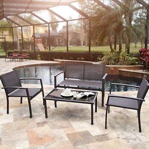 Modern 4 Pcs Patio Furniture Set outdoor,garden patio steel frame