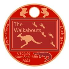 The Walkabouts 2018 Pathtag #44592 GEOCACHING Pathtags Bear Geocoin USA Tag