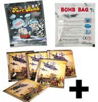 10 FART STINK BOMB BAGS + 10 BOMB WAR BOMBS