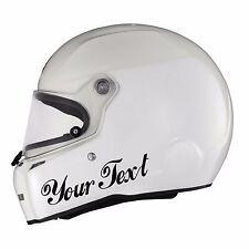 2x Custom Vinyl Decal Sticker Car Kart Helmet Race Choose Colour & Font