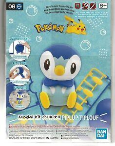 Bandai POKEMON Model Kit PIPLUP / TIPLOUF No Glue, no Paint, SNAP 2561634 ST