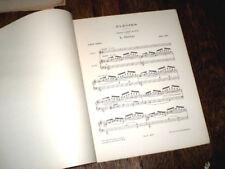 Elégies 4 poèmes d'Albert Samain recueil piano chant 1912 Jean Cras