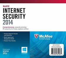 McAfee Internet Security 2014 1 User retail box 12 Months Subscription