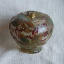 Daum Nancy Floral Leaf Pattern Apple Shaped Bottle