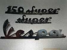 Vespa stainless steel emblem emblems badge badges logo logos VBC Super V8213