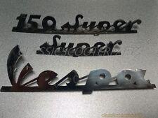 Vespa stainless steel emblem emblems badge badges logo logos VBC Super V8213