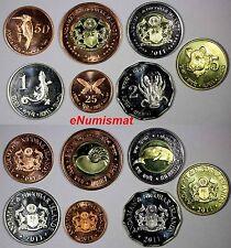 "Andaman & Nicobar Islands 2011 FULL SET of 7 COINS ""Animals"" BU CONDITION"