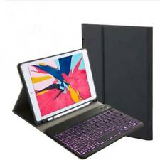 """For iPad 7th Gen 10.2"""" 2019 Detachable Bluetooth Keyboard Leather Case Cover"""