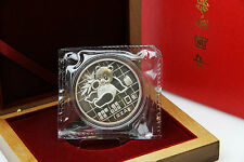CHINA - 1 oz Silberpanda 1989 in der Folie inkl. Box - TOP