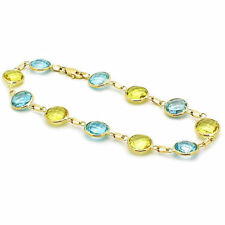 4fe875d350ab Pulseras de joyería de oro amarillo de 14 quilates topacio