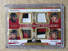 12-13 SP Game Used Team Canada Patch SMITH-PELLY/SCHEIFELE/CONNOLLY/SCHWARTZ /12