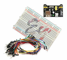 New Mini Prototype test board deck, 65pcs Breadboard Wire cable & Power Supply