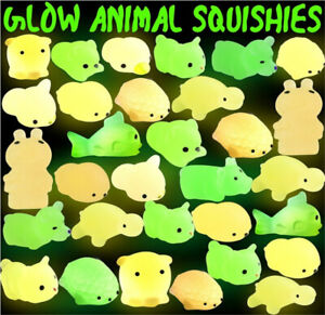 Animals Toys Kawaii Mochi Glow in The Dark Relief Stress Toys for Kids Adults
