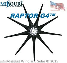 Wind turbine blade 9 Raptor Series Blades™ BLACK Wind Turbine Blades and Hub USA