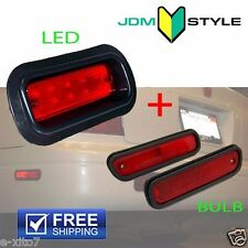 Rear Bumper Red LED Fog Light Lamp + Bulb Side Marker Acura Integra Civic Accord