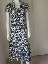 Alex And Co Top And Skirt 2 piece black white Floral Wedding  Cotton blend 16/14