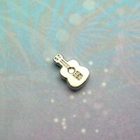 New Sterling Guitar Jewel For locket,Keychain Pendant etc- Silver