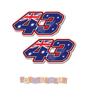 Jack Miller No 43 sticker 150mm twin pack quality water/fade proof vinyl
