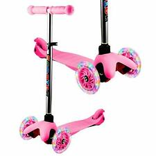 Kids Scooter Deluxe for Toddler Adjustable Kick Scooters Girls Boys 3LED Wheels