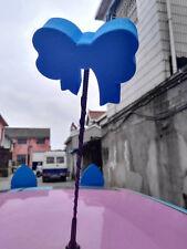 Cute Dark Blue Bowknot Antenna Balls Car Aerial Ball Antenna Topper & Decor Ball