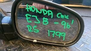 HONDA CIVIC EJ 8 96' R DRIVER  SIDE MIRROR in gunmetal grey  # 1799