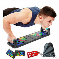 9 in1 Push Up Board Stand Fitness Workout System Gym Muscle Training Exercise HQ
