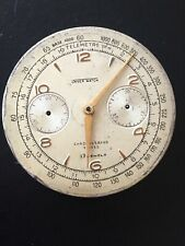 Unver Watch Chronograph Movement Wristwatch 31m For Repair Or Parts -Swiss-